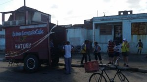 Beer truck in Baracoa