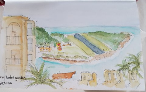 Terrible sketch of Baracoa airstip!!!