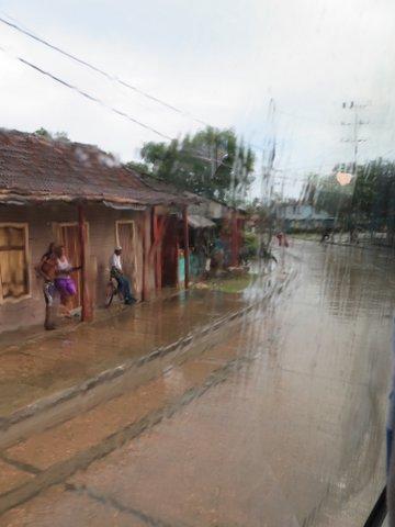 Rainy arrival at Baracoa