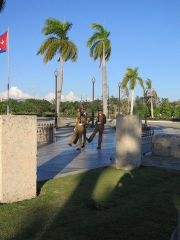 José Martí guards at Santa Ifigenia Cemetery