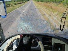 Good thing the windscreen didn't break!
