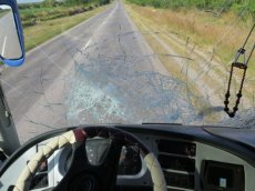 Good thing the windscreen didn't break!