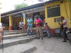 Lunchtime music in Trinidad, Cuba