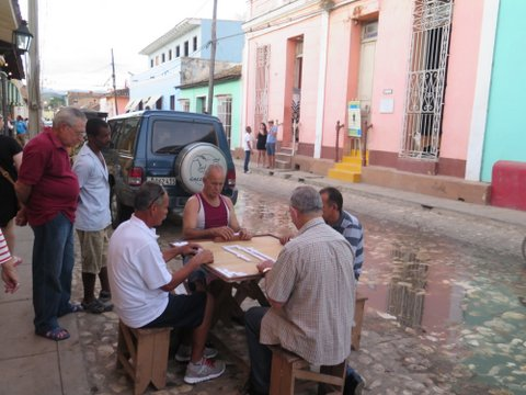 Playing in the streets of Trinidad, Cuba